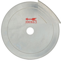 "Wholesale Diamond Stone Saw - 8"" inch Super-Thin Arbor Hole 25 mm Rim 0.65 Diamond Jewelry Saw Blades Cutting Disc Lapidary Saws Tools for Stone Tool Gemstone"