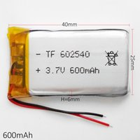 Wholesale Dvd Game - 3.7V 600mAh 602540 Li-Po Rechargeable Battery Lithium Polymer replace power For Mp3 DVD MP5 GPS PSP Vedio Game Mobile phone Camera toys