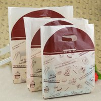 Wholesale Plastic Bags For Party - Bread Baking Packaging Protable Standup Food Plastic Bags Dessert Biscuit Cakes Gift Bag for Party Supplies 100pcs lot