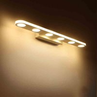 Wholesale Vanity Wall Mirror Lights - Bathroom Vanity Light 12W 18W Makeup Mirror front Light Anti Fog & Waterproof LED Modern Wall Light Lamp for Bathroom, Bedroom, Dresser