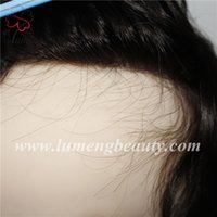 pelo virginal real envío gratis al por mayor-Real Man Toupee Hair Human Virgin Hairpiece Mono Lace con Poly transparente alrededor del envío gratis