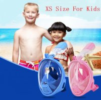 Wholesale Snorkel Free Shipping - New Arrival Kids Full Dry Face Anti Fog Full Face Diving Swimming Underwater Snorkel Mask For Gopro Free Shipping