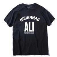 ali t shirt großhandel-MUHAMMAD ALI T-Shirt Freizeitkleidung Männer Größte Fitness Kurzarm gedruckt Top Baumwolle T-Shirt plus Größe