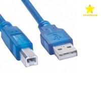 mini usb b tipi erkek toptan satış-Yazıcı Adaptörü Kablosu 1.5 M 5FT USB 2.0 Tip A Erkek B Erkek Veri Bağlayıcı Yazıcı PC Tarayıcı için