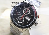 Wholesale calibre 16 black dial - The latest version High quality Brand Tag Automatic Watch Calibre 16 CV2A1R Men Black Dial Chronograph Mens Watch Watches The best watch