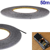 Wholesale 3mm Adhesive Tape - Wholesale- 50M 3MM Sticker Double Sides Adhesive Tape Glue For Cellphone Touch Screen LCD DY-fly