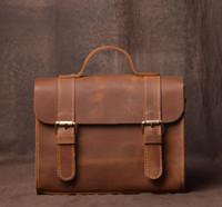 neue damen schwarze handtaschen großhandel-2017 neue mode Frauen Leder Composite-tasche Echte echtes leder Handtaschen Frau Vintage handtasche Marken Damen Schwarz umhängetasche