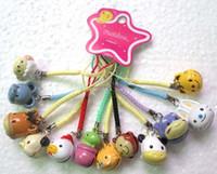 ingrosso fascino animale del telefono mobile-120 pezzi simpatici 12 animali dello zodiaco stile cartoon design campana cellulare fascino regalo