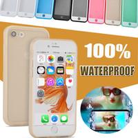 Wholesale Underwater Diving Bag - 100% Sealed Waterproof Phone Cases Water Resistant Shockproof Underwater Diving Full Cover Bag Case For iPhone X 8 7 plus 6S SE Samsung S7