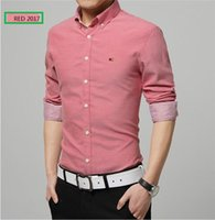 Wholesale High Collar Slim Fit Shirt - New Spring Fashion Brand Personality Button Slim Fit Men Long Sleeve Shirt Men High-quality Casual Men Social 4XL