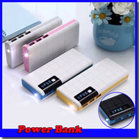 Wholesale external charger for android for sale – best 20000mAh Power Bank USB External Battery With LED Portable Power Banks Charger For iPhone Samsung s6 Android Phones