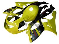 siyah yamaha thundercat kaplama kiti toptan satış-Motosiklet Çerçeve Enjeksiyon Kalıp YZF600R 97 için Komple Vücut Kaporta Kiti-07 Thundercat ABS Plastik Enjeksiyon Kalıp Fairings Sarı Siyah
