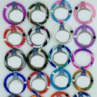 Wholesale Silicone Bracelet Mix Color - DHL 100pcs New style Mixed color faith beads silicone bracelet high quality silicone bracelets for men and women