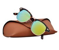 солнцезащитные очки desinger оптовых-Высокое качество классический бренд Desinger старинные солнцезащитные очки мужские женские G15 очки Очки UV400 линзы с чехлами и коробка 6 Цвет