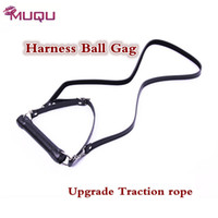 Wholesale Sm Ball For Mouth - Best Quality Leather Harness Mouth Gag adults products open Mouth proextender plug sex toys for women sex shop fetish gay SM