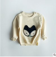 Wholesale Korean Style Owl Clothes - Children Korean style pullover autumn unisex cotton night owl pompon knitting sweater kids long sleeve fashion clothes C0856