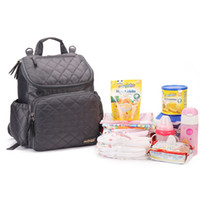 Wholesale Fashion quilted Mummy bag backpack multi functional huge capacity Diaper Bags Hanging on stroller colors