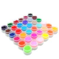 Wholesale Gels Build Nail - Art 36 Pcs lLot UV Varnish Pure Solid UV Gel Polish Nail Tips Build Artificial Gel Nail For