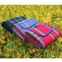 Wholesale Good Quality Blankets - Wholesale- Good quality Outdoor Beach Picnic Camping Mat Multiplayer Fold Waterproof Moistureproof Baby Climb Plaid Blanket 1.5*2M