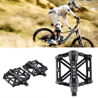 Wholesale Wellgo Aluminum - JIEANG 2PCS Ultralight Aluminum Alloy Bicycle Pedals Mountain Bike Pedal MTB Road Cycling Riding Alloy Wellgo Pedal Treadle Black