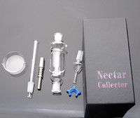 Wholesale packing dishes online - Nectar Collector Gift Box with Individual Packing mm joint titanium nail Dish Smoking pipe glass bong
