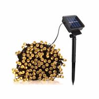 guirlande de batterie portable achat en gros de-Edison2011 22 M 200 LED Alimenté Solaire Fée Bande Lumière Étanche pour Fête de Noël Lumières Chaîne Rechargeable Batteries