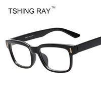 Wholesale Wholesale Brand Optical - Wholesale- Brand Designer Square Eye Glasses Rivet Frame Men Women Reading Vintage Optical Eyeglasses Retro Eyewear Male Hot Sale