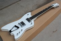guitar body shapes NZ - Hot Sale Factory Custom Unusual Shaped White Electric Guitar with Basswood Body,Maple Neck,Chrome Hardware,Can be Customized