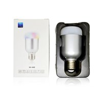 Wholesale E27 Led Iphone - 10PCS LOT 10W 550LM E27 Smart Bluetooth Smart Light RGB & White RGBW LED Bulb Lamp Brightness for iPhone 7 7plus Samsung Smartphones App