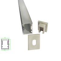 Wholesale Aluminium Floor Strip - 10 X 1M sets lot Al6063 U type led profile strip and Anodized led strip aluminium housing for ground or floor lights