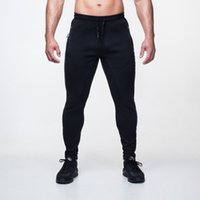 Wholesale Fitness Engineering - Wholesale- Free shipping 2016 New Gold Medal Fitness Casual Elastic Pants Stretch Cotton Men Pants Body Engineers Jogger Big yards trousers
