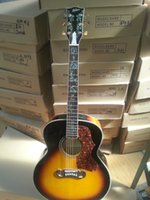 Wholesale New Guitar Abalone - Wholesale-2015 New + Factory+ Chibson J200 deluxe acoustic guitar all real abalone J200 flame maple acoustic electric guitar