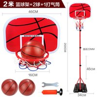 Wholesale Indoor and outdoor shooting ball meters free to adjust the height of basketball children s sports ball sports toys