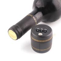 Wholesale Vacuum Preservation - New Arrive NED Plastic Bottle Password Lock Combination Lock Wine Stopper Vacuum Plug Device Preservation For Furniture Hardware