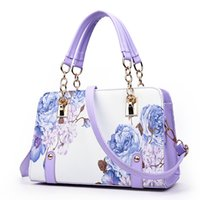 Wholesale Sac Pochette - Wholesale-Pochette luxury Painting flowers Chain Women Bag famous designer purses and handbags ladies hand bags dollar price sac a main