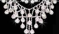 ingrosso matrimonio 88-cristallo bianco matrimonio sposa gioielliere collana orecchini corona (88) khkh