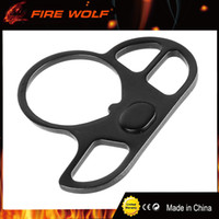 Wholesale Tactical Gun Accessories Wholesale - FIRE WOLF Tactical AR End Plate Triple Loop Sling Adapter Metal Sling Swivel Handed Mount Hunting Gun Accessories