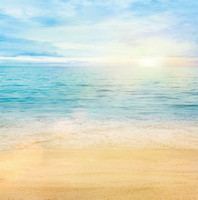 Wholesale Wallpaper Photography Backgrounds - 10ft Beach Photo Studio Backgrounds Beautiful Sunrise Blue Sky Seawater Summer Backdrop Wedding Camera Photography Wallpaper Props