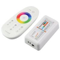 led-streifen bildschirm großhandel-RF Fernbedienung DC 12 V-24 V 6A 2,4G RGBW Touchscreen Vier Kanäle Wireless für 5050 RGBW LED Streifen RGB