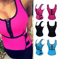 Wholesale Trimmer Belts - New Neoprene Waist Trainer Corset Sweat Belt Vest Sauna Workout Top Vest with Adjustable Waist Trimmer Weight Loss Slimming Shapewear