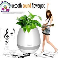 DHL Smart Mini Flower Pot Plástico Bluetooth Speaker Decoração Com Built in Battery Office Decor Planter Colorido Light Creative Music Toy