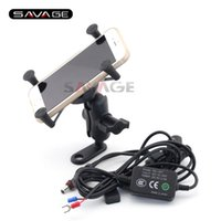 Wholesale navigation for bmw - For BMW F650GS F700GS F800GS F800GT F800R Motorcycle Navigation Frame Mobile Phone Mount Bracket with USB charger