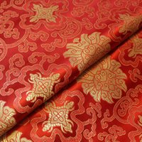 Wholesale Chinese Garments Wholesale - Riches and honour flowers tangzhuang cheongsam chi-paofabric cloth embroidered fabrics packaging brocade silk garment clothing fabrics