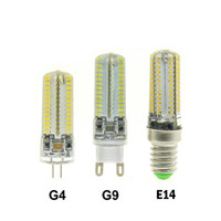 Wholesale 12v 8w - High Power LED E14 G4 G9 SMD3014 3W 6W 8W 9W 12W AC 110V 220V DC12V 24 48 64 72 104 leds lighting light Crystal bulbs