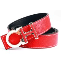 Wholesale Belt Canvas Leather - New Fashion Brand Canvas belt buckle Designer belts Men high quality pu luxury leather belts leather belts