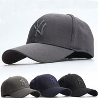 Wholesale Elastic Types - Hot trend NY men women baseball hats Fully enclosed type Elastic adjustment fashion Sun outdoor Mountaineering hat sports Male Female cap