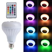 Wholesale Music player Wireless W E27 LED RGB Bluetooth Speaker Bulb power with Music Playing Light Lamp remote controller