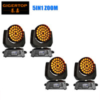 Wholesale Wall Washer 18 - Gigertop New Brand 4 Unit 36x15W Led Zoom Moving Head Light Led Wall Washer Stage Lighting RGBWA 5IN1 Tyanshine Leds 18 DMX Channels