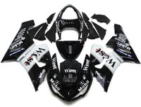 Wholesale Best Kawasaki - New Motorcycle Fairings Kit For Kawasaki ZX6R ZX-6R 05 06 Ninja 636 2005 - 2006 ABS Covers Fairing Cowling best Black white west