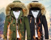 Wholesale Long Winter Parka For Men - 3XL Plus Size Mens Winter Parkas Long Warm Thick Down For Men Windproof Hood Men Jacket Warm Men Parkas T170901
